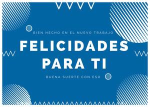 new job congratulations cards  Tarjeta de felicitación