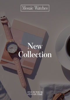 Mosaic Watches Flyer New Collection