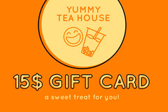 Yellow and Orange Gift Card Gift Card