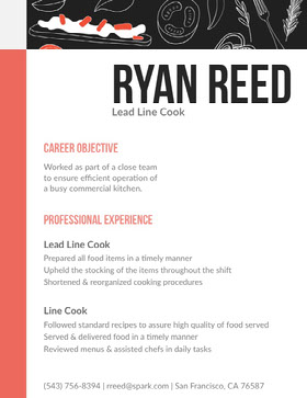 Ryan Reed CV professionnel