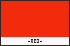Red Color Flashcard Education
