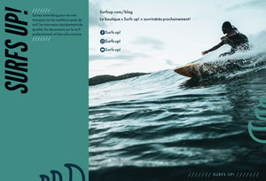 surfs up travel brochures  Brochure