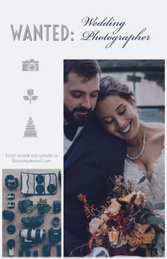 Wedding Photographer Wanted Flyer Job Poster