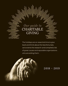Our guide to<BR>CHARITABLE <BR>GIVING  Guide