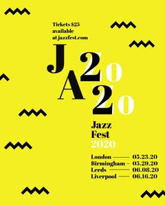 Yellow Zig Zag Jazz Music Festival Instagram Portrait Jazz