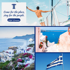 Greece photo collage igsquare Vacation