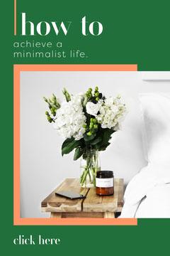 Minimalist Life Pinterest Post Green