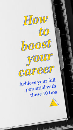 Yellow and Blue Boost Career Instagram Story Career Poster