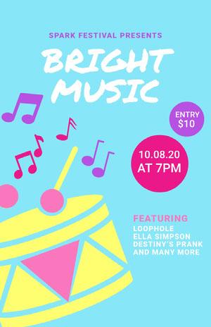 BRIGHT MUSIC Concertposter