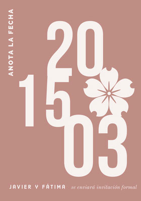 blush pink save the date card  Tarjeta para guardar la fecha