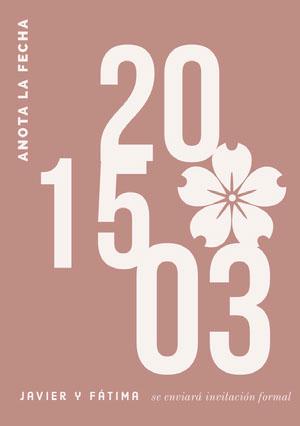 blush pink save the date card  Guardar la fecha