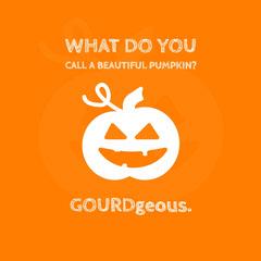 White and Orange Halloween Instagram Graphic Jokes
