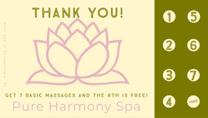 green serene spa loyalty card Loyalty cards