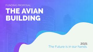 blue purple gradient business funding proposal presentation cover Presentation