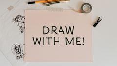 Paper Photo Drawing Vlog Youtube Thumbnail Tutorial