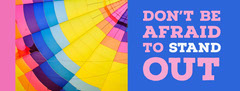 Bright Multicolored Inspirational Facebook Profile Cover Balloon