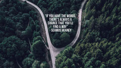 desktop wallpaper seamus heaney Forest