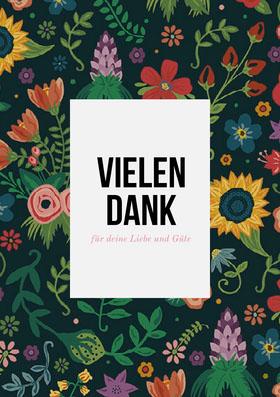colorful floral thank you cards Danksagungskarte