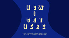 Blue & Yellow Career Path Podcast Twitter Post Career Poster