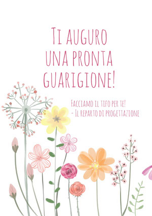 colorful flowers get well soon cards Biglietto d'auguri di pronta guarigione