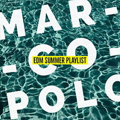 Blue, White and Yellow Mar Co Polo Playlist Instagram Post Wave