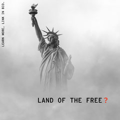 Political Instagram Square Graphic with Statue of Liberty Political Flyer