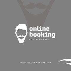 Gray Barber Online Booking Instagram Square Ad Barber