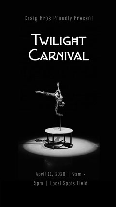 Black and White Carnival Promotional Instagram Story  Circus