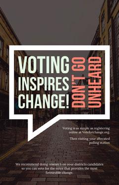 Vote Inspires Change Poster Voting