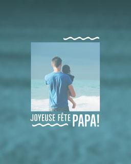 blue ocean Father's Day - instagram portrait
