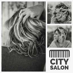 Black & White City Salon Instagram Square