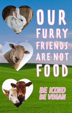 Furry Farm friend Poster Vegan