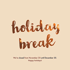 Pink and Gold Holiday Break Instagram Graphic Holiday