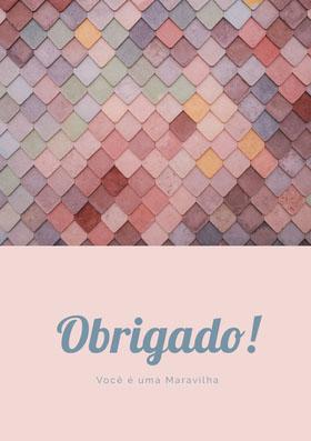 light pink textured thank you cards  Cartão de agradecimento