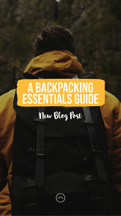 Yellow Backpacking Essentials Guide IG Story Hike