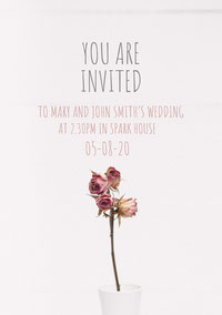 Light Toned, Pink, Delicate, Wedding Invitation Card  결혼 축하