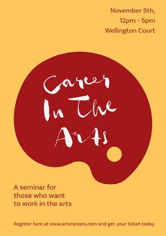 Yellow & Red Arts Career Fair Flyer A5 Job Poster