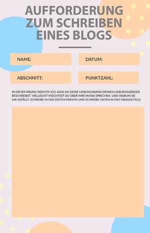blog prompt writing worksheet  Arbeitsblatt