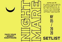 Nightmare Set List Brochure Neon