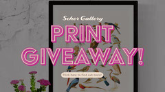 Pink Art Gallery Print Giveaway Facebook Post Giveaway