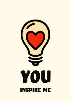 You Inspire Me Card Heart