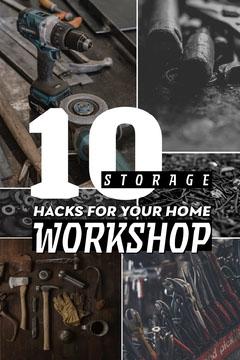 Black and White 10 Storage Hacks Pinterest Post Tutorial