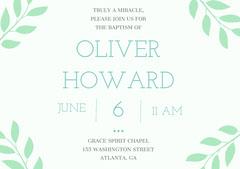 OLIVER <BR>HOWARD Baptism