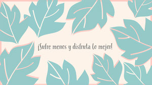 light pink and mint green leaves desktop wallpapers  Papel tapiz