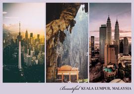 Beautiful Kuala Lumpur Postcard Cartolina