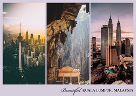 Beautiful Kuala Lumpur Postcard Carte postale