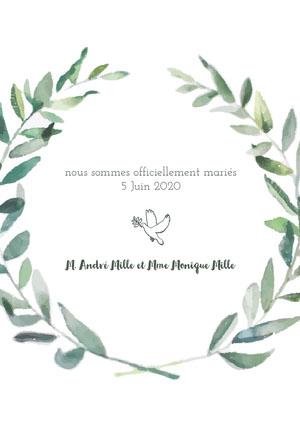 dove wedding announcements  Faire-part d'annonce de mariage