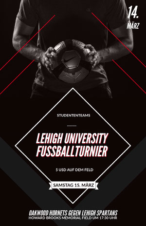 LEHIGH UNIVERSITY<BR>FUSSBALLTURNIER Business-Flyer