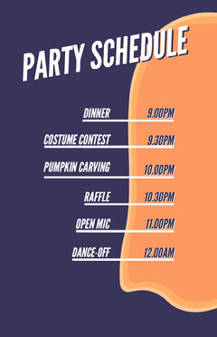 Ghost Costume Halloween Party Schedule Halloween Party Schedule