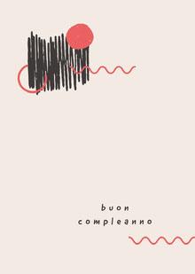 artistic and minimal birthday cards  Biglietto di compleanno